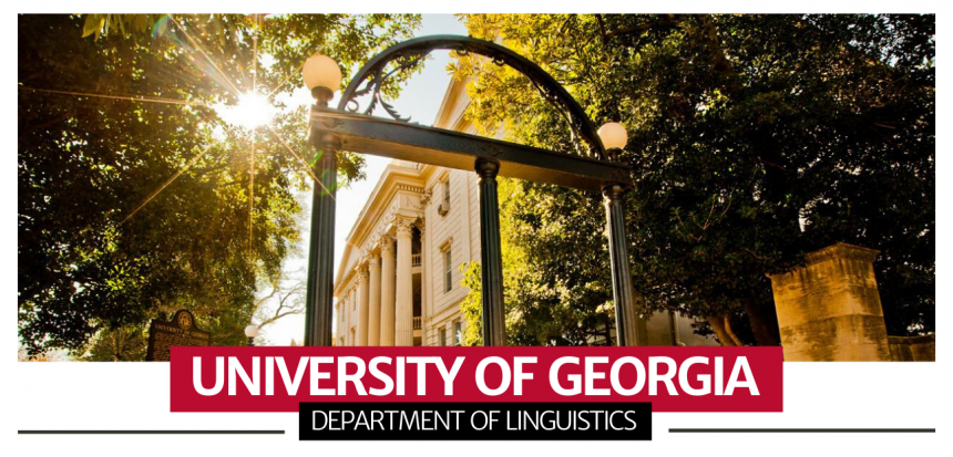 Image of Arch with UGA Colors